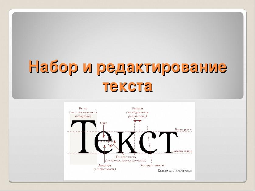 Набор и редактирование текста на русском языке. изображение 1